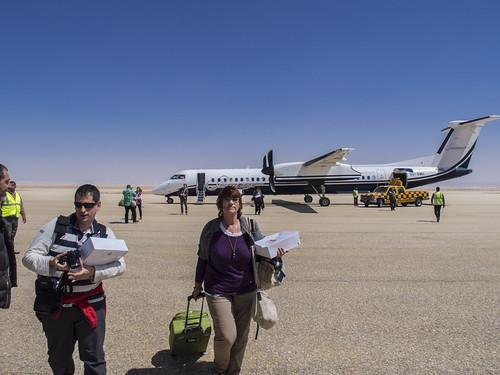 Llegada a el Aeropuerto de El Kharga (Egipto)