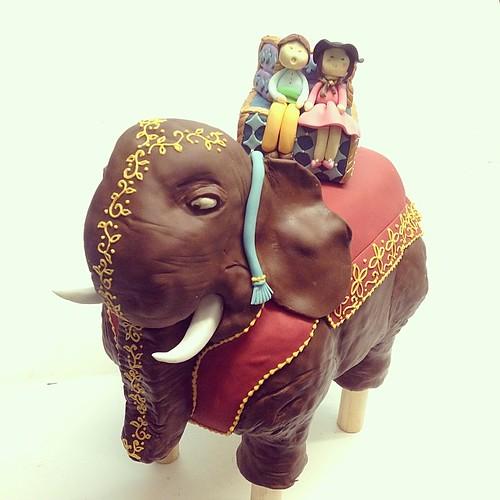 Elephant cake #polkadotscupcakefactory