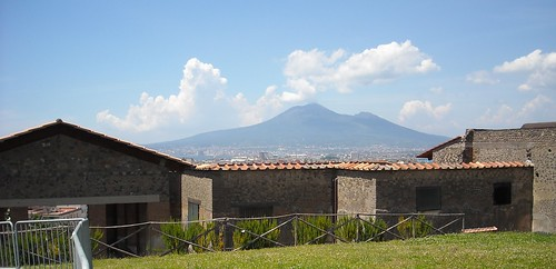 Vesuvius from the villa of Ariadne at Castellammare di Stabia