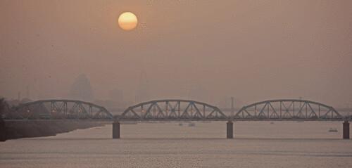 sunset sudan khartoum