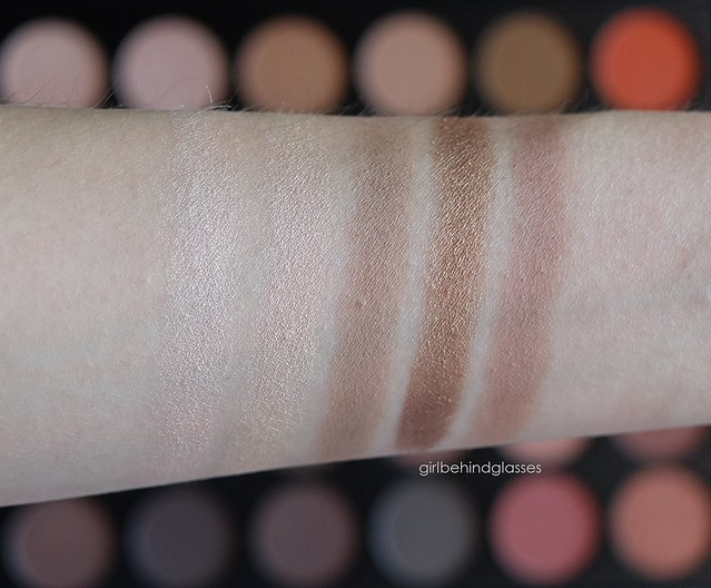 Morphe 35O palette Column 2 swatches
