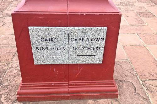 Dirección Cairo-Cape Town