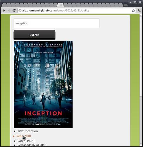 alexnormand-demo-imdb-display-result-screenshot