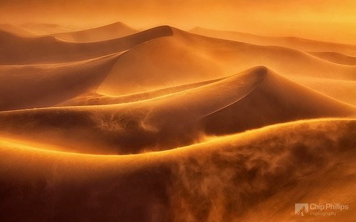 Death Valley Dune Storm
