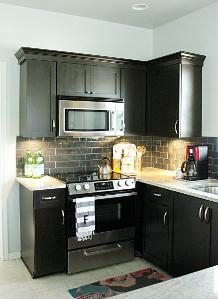 The astonishing Black brown kitchen tile backsplash ideas picture