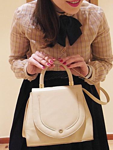 bolso blanco vintage