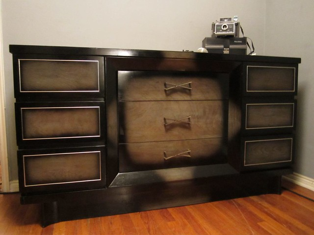 Beautiful Vintage American Of Martinsville Vintage Black Grey Bedroom Set Flickr Photo