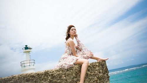 [フリー画像素材] 人物, 女性 - アジア, 台湾人, 人物 - 海 ID:201303052200