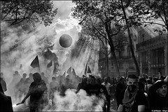 Protest in Paris (2012, May 1st)