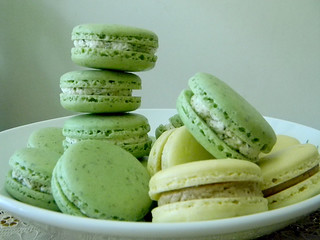 Fresh Mint Macarons and Tamarind Pineapple Macarons