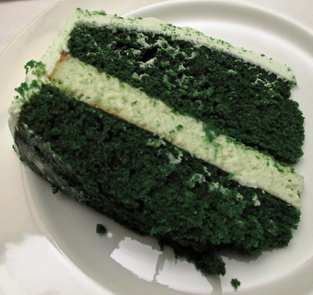 Green Velvet Cheesecake Cake Recipe — Dishmaps