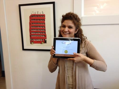 Ammneh gets her Google Analytics certification
