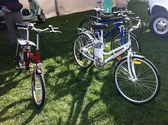Several electric bicycles