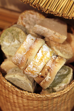 dried goat cheeses
