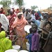 Refugees queue for water in the Jamam camp, South Sudan