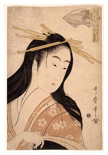021--Retrato de una cortesana 1795-1796 (ca.) -Kitagawa Utamaro- © The Trustees of the British Museum