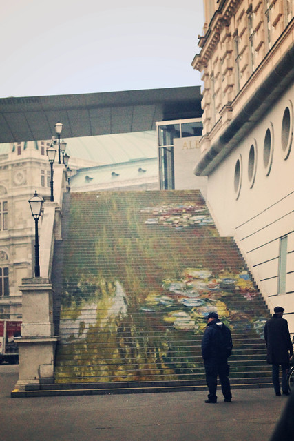 albertina painted stairs, vienna