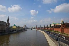 Vue depuis le Pont Bolshoy Moskvoretsky