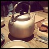 Friday night makgeolli (Korean rice alcohol in a teapot)