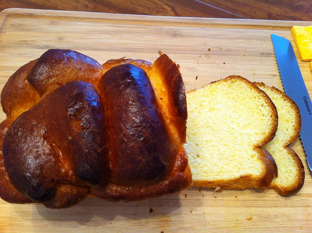 Slices of Homemade Brioche