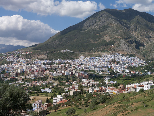 Chefchaouen overview, Morocco with Panasonic GX1 and Leica 25mm lens