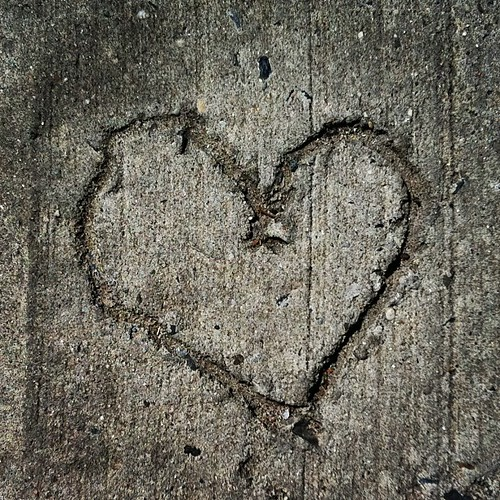 Cement Heart #greenpoint #brooklyn
