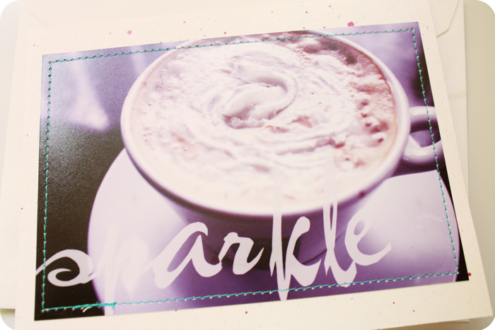 {note card} sparkle