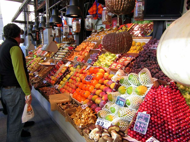 Incredible fruit displays in Mercado de San Miguel