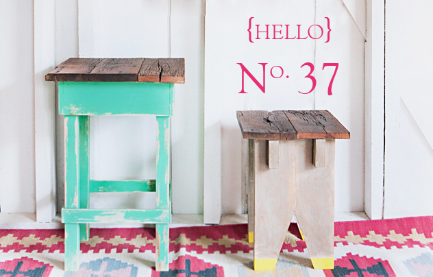 No. 37 {the stool with yellow feet}