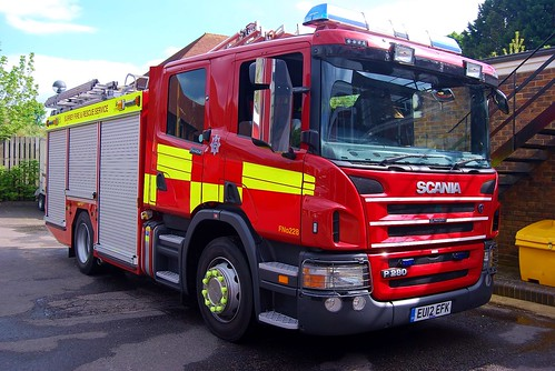 Brand new Scania WrL Browns  with advanced rescue gear and CAFS for Surrey F&RS