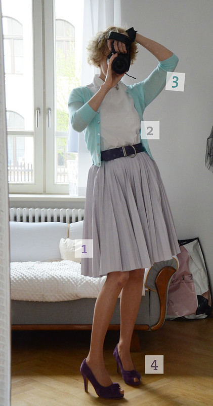 Outfit: Lilac & Blue