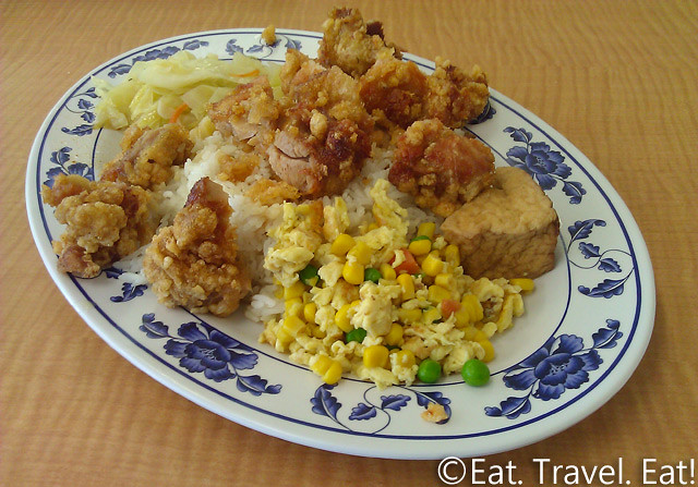 May's Cafe- Arcadia, CA: Fried Chicken Leg on Rice