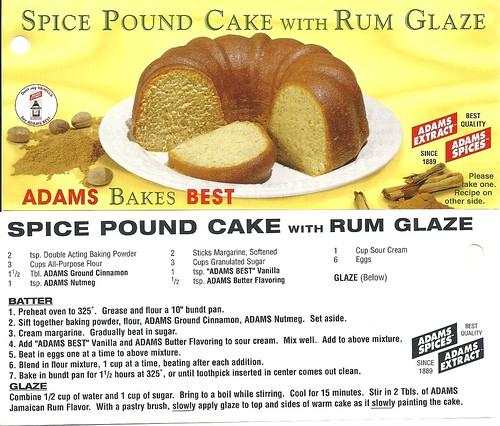 Classic Adams Spice Pound Cake