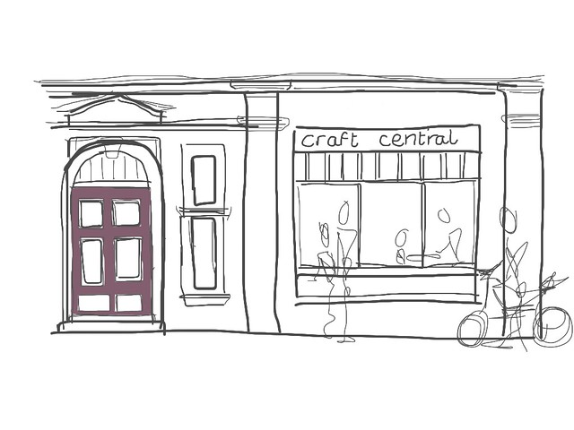 Craft Central on St John's Square by Phoebe, drawn on an iPad with a Bamboo Stylus by Wacom
