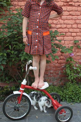 staand op de fiets