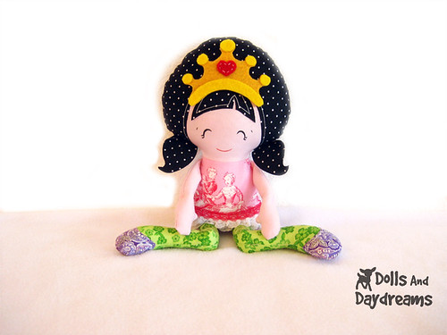 Princess doll sewing pattern