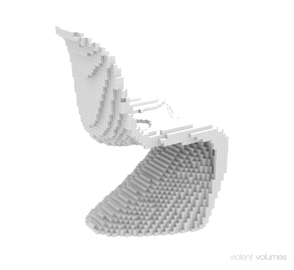 Voxel Chair white