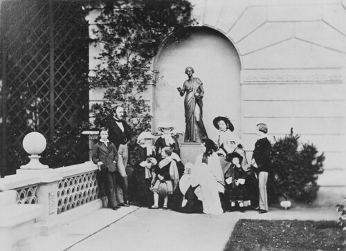Queen Victoria and Prince Albert with their nine children at Osborne House, 1857