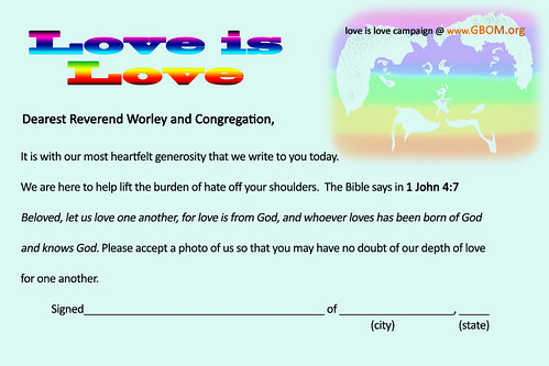 Link To Love is Love Postcard