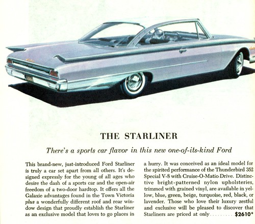 1960 Ford Galaxie Starliner 2 Door Hardtop