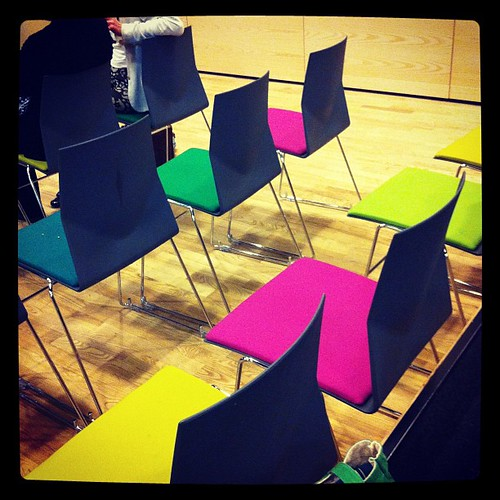 Colour palette inspired by chairs at conference