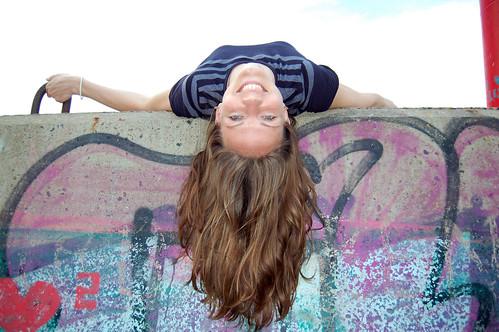 Woman hair falling