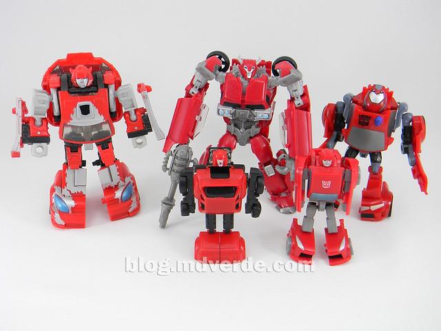 Transformers Cliffjumper Deluxe - Prime RID - modo robot vs otros Cliffjumpers