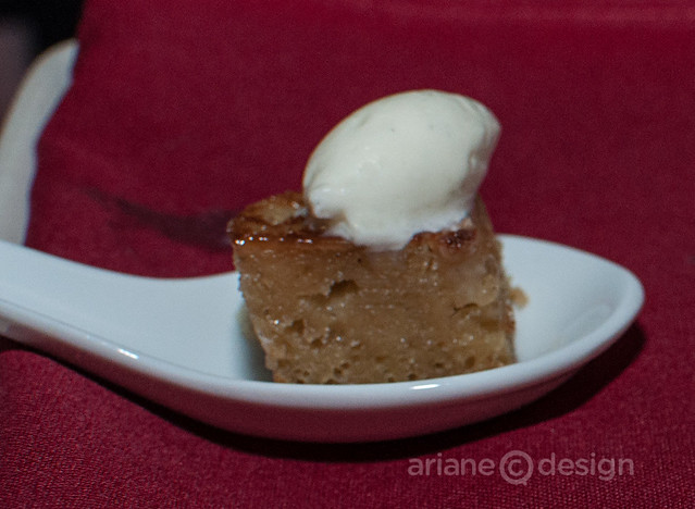 Bread pudding with mascarpone