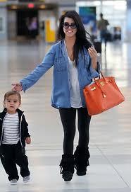 Kourtney Kardashian Denim Shirt Celebrity Style Woman's Fashion