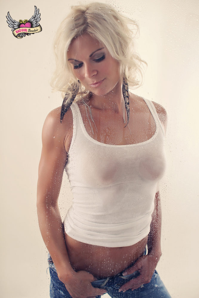 Sexy Wet T-shirt Shower Boudoir Photo
