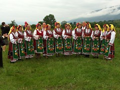 Traditional Bulgarian singers/dancers at the rose festival