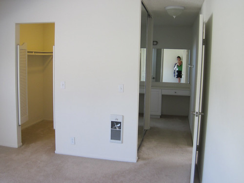 bedroom looking at closet and hall to bathroom