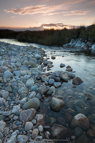 uk greatbritain sunset water river scotland highlands rocks stream europe european unitedkingdom britain scottish highland environment british sutherland