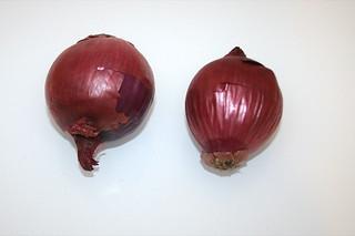 03 - Zutat rote Zwiebeln / Ingredient red onions